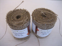 Floral Garden Tan Burlap Craft Ribbon Roll 3in.w. x 9 in.ft. New 639277132536