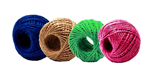 600 feet Jute Burlap Twine Balls Large and Heavy | 3 Ply (150 Feet) 4 Ball Set
