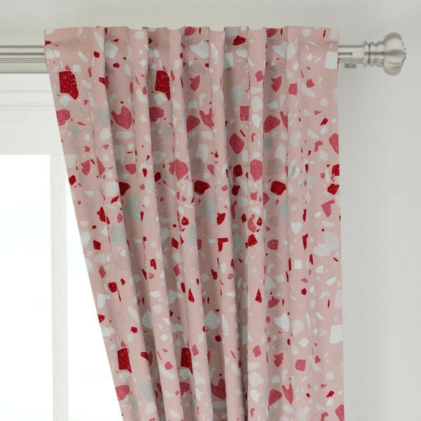 "Terrazzo Rock Stone Flooring Retro Mineral 50"" Wide Curtain Panel by Roostery"