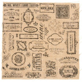 sei YESTERYEAR 12x12 PRINTED BURLAP FABRIC Scrapbooking Paper Altered Art