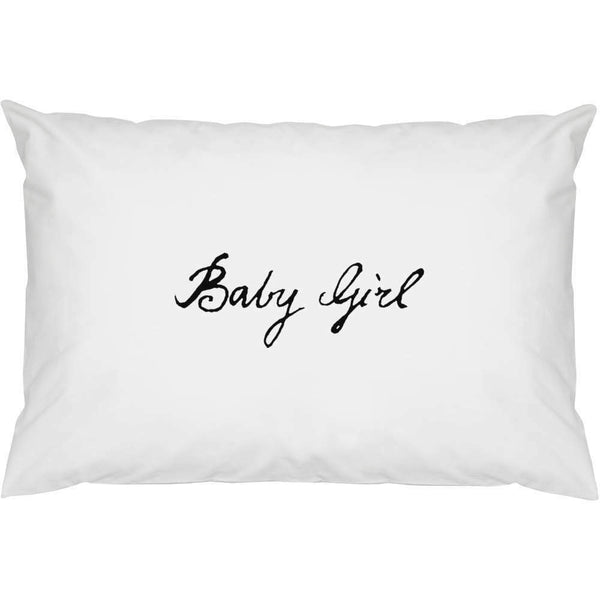 2 x 'Baby Girl' Cotton Pillow Cases (PW00013459)