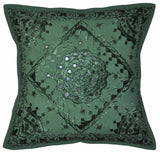 New Indian Mirror Work-Pair Pillow Case Bohemian Hippie Cushion Cover Sofa Decor