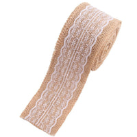 Hessian Vintage Rustic Jute Burlap Ribbon Cotton Lace for Wedding Party Crafts