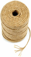 Jute Twine String 600 Feet 6ply 3mm Thick Strong Natural Rope Roll Garden Gifts