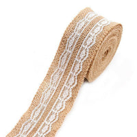 Wedding Party Decor Rustic Vintage Lace Jute Hessian Burlap Sewing Ribbon Roll