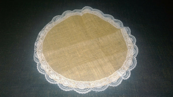 Bulap Lace with Circle - White Lace