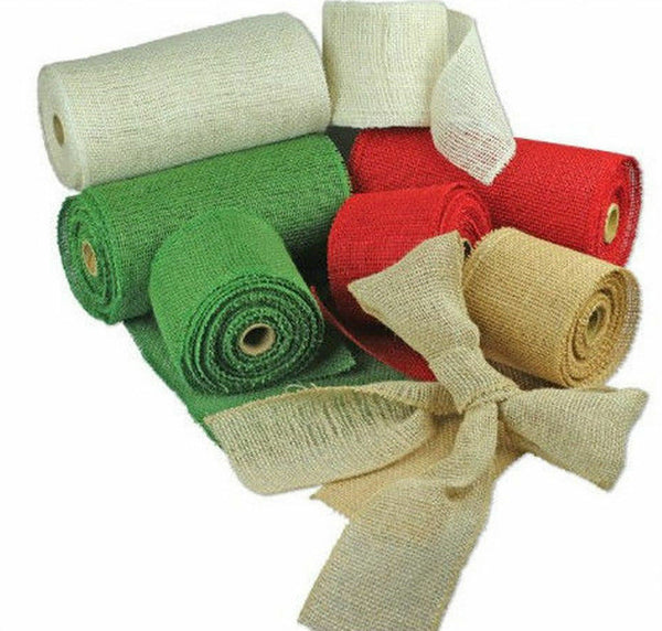 "Burlap Jute Ribbon 14"" Wide 10 Yards"
