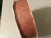 "Lion Ribbon Company Burlap Rust Colored Ribbon Measures 1 3/8"" x 15 yds unopened"