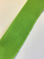 5 Meters Of Wired Hessian Burlap Jute Ribbon 70mm Lime Green
