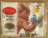 Vintage 1973 Chix Dundee Baby Nursery Pillow Case Circus Animals All Cotton NOS