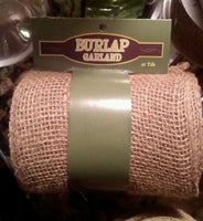 "New 6"" Burlap Unwired Ribbon 10 yards Roll Natural Color for Bows Crafts Wreaths"