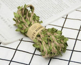 Artifical Leaf Jute Ribbon Burlap Twine Hessian Rope For Home Wedding Decoration