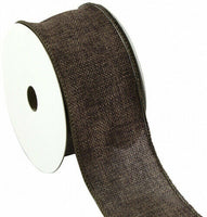 (6.4cm , Chocolate) - Kel-Toy Wired Faux Burlap Ribbon, 6.4cm by 10-Yard,