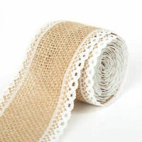 DIY Hessian Ribbon With Lace Vintage Rustic 2 Meter Width 5cm Wedding Decoration