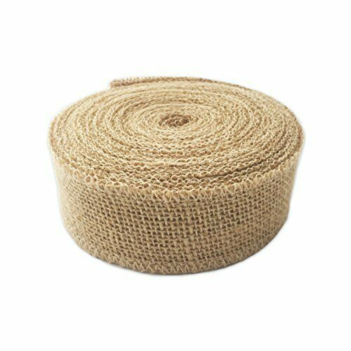 "LWR Crafts Natural Burlap Ribbon 32 Feet (1 2/3"")#19"