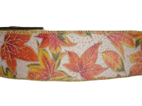2-1/2in10Y Fall Realistic Style Maple Burlap Ribbon for Gift,Floral,Craft Use