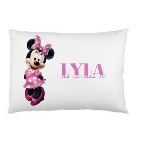 MINNIE MOUSE PINK CUSTOM PERSONALIZED CHILDRENS CHILD PILLOW CASE slip cover