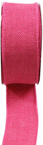 (3.8cm , Hot Pink) - Kel-Toy RDJB138-06 Sparkle Faux Burlap Ribbon, 3.8cm by