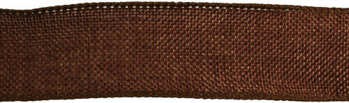 (3.8cm , Copper Brown) - Kel-Toy Wired Faux Burlap Ribbon, 3.8cm by 10-Yard,