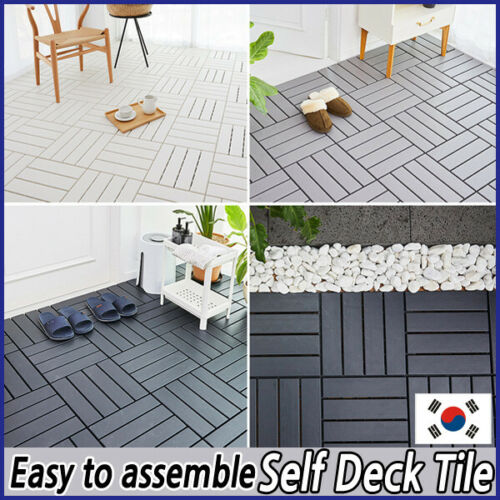 [Deco Tile] Assembled Floor Self-Deco Tile 2 pcs - Veranda Bathroom Interior