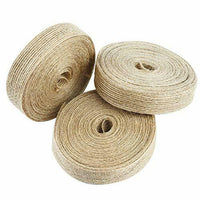 Livder 3 Rolls Natural Jute Burlap Fabric Ribbon for Wedding Events Party and#34