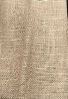 "FABRIC BURLAP COLOR MEDIUM BROWN RUSTIC 13o"" X 16""."