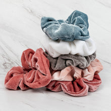 Load image into Gallery viewer, Velvet Scrunchies - Pack of 6 - Extra Big - Blush Pack