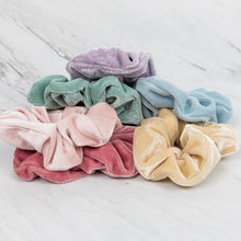 Load image into Gallery viewer, Velvet Scrunchies - Pack of 6 - Extra Big - Pastel Pack