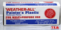 TRM Manufacturing HD9 Weatherall Painter's Plastic , Roll Size 9' X 400', Polythelene,Clear