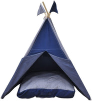 Asweets Denim Floor Cotton Canvas Cushion for Teepees Play Tents, Dark Blue