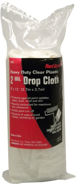 Red Devil 3962 2 Mil Plastic Drop Cloth