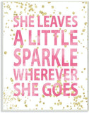"The Kids Room by Stupell ""She Leaves A Little Sparke"" Wall Plaque Art"
