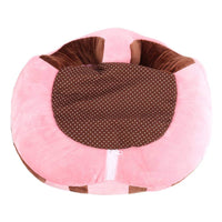 SealSee Baby Support Seat Sofa Plush Soft Animal Shaped Baby Learning to Sit Chair Keep Sitting Posture Comfortable for 3-16 Months Baby (Pink)