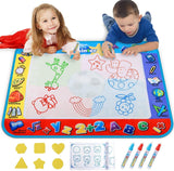 Alago Water Doodle Mat,Kids Toys Large Aqua Mat,Toddlers Painting Coloring Pad with 4 Colors,Gifts for Girls Boys Age 2 3 4 5+ Years Old,4 Pens,Drawing Molds and Booklet Included