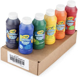 Crayola Washable Finger Paints, 6 Count, School Painting Supplies, Gifts for Kids, 4, 5, 6, 7, 6 Colours