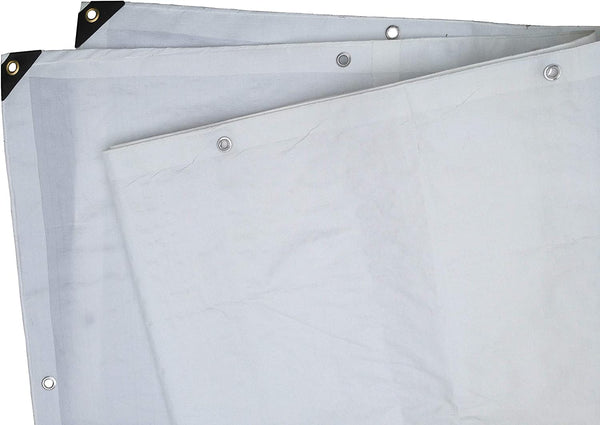 6 Ft. X 8 Ft. Heavy Duty 6 Oz. White Tarp 11-12 Mil Thick