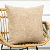 MKLFBT Pack of 2 Farmhouse Decor Linen Couch Pillow Covers Solid Burlap Fall Throw Pillow Covers 18 x 18 Decorative Rustic Coffee Cushion Cases for Sofa Outdoor Camping