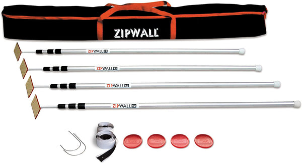 ZipWall 12' 4-Pack Spring-Loaded Poles for Dust Barriers, SLP4