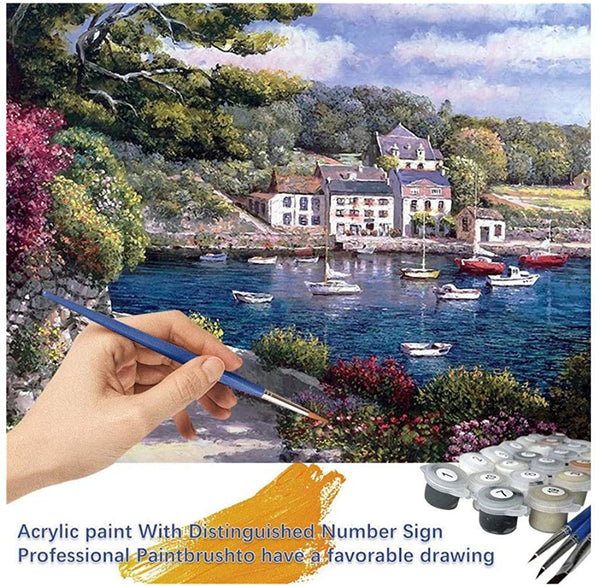 ZYAPCNGN Oil Painting Paint by Number Kits Canvas DIY Oil Painting Kids Adults Beginner with Brushes