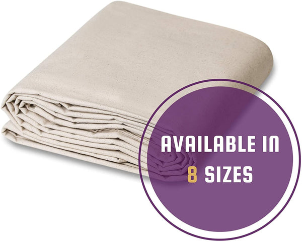 CCS CHICAGO CANVAS & SUPPLY All Purpose Canvas Cotton Drop Cloth, 4 by 15 Feet