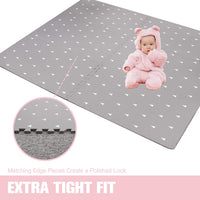 Baby Play Mat with Fence - Extra Large (4FT x 6FT), Non Toxic Foam Puzzle Floor Mat for Kids