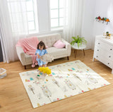 "Infant Shining Baby Play Mat, 58""x78"", BPA Free Folding Mat for Baby Children Crawling Waterproof and Antislip (Happy Zoo)"