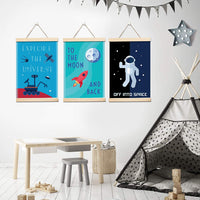 Pillow and Toast Space Decorations for Kids Room, Kids Wall Art, Posters for Boys Room Decor, Kids Bedroom Wall Decor, Kids Room Decor, Baby Nursery Decor, Perfect Home Decor Match Size 11x17