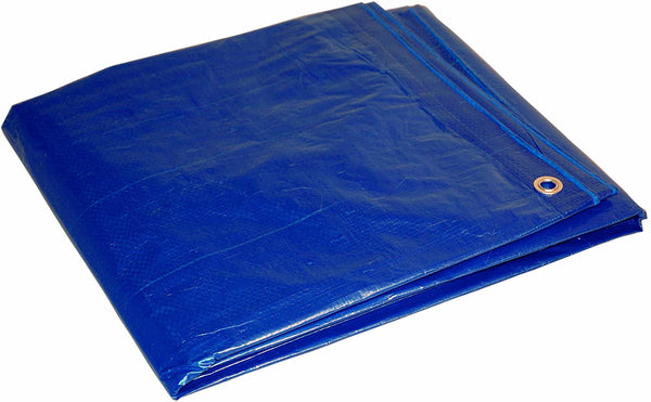 8x10 Multi-Purpose Blue Economy Poly Tarp (8'x10')