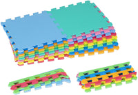 "ProSource Kids Foam Puzzle Floor Play Mat with Solid Colors, 16 Tiles (12""x12"") or 36 Tiles (4""x4"")"