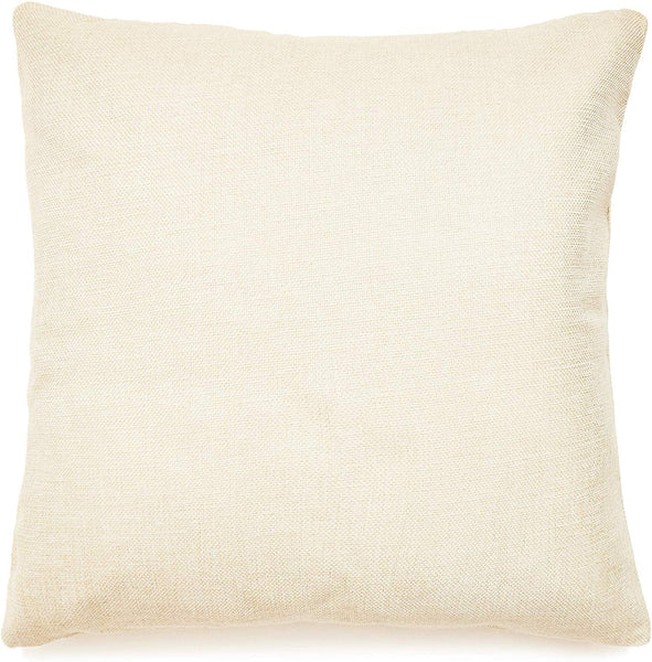 Juvale Blank Throw Pillow Cover Cases for DIY Design (4 Pack), 17 Inches, Natural Color