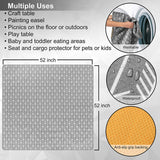 "Splat Mat for Under High Chair - 52"" Large Floor Mat Protects Floors and Tables from Arts, Crafts, Splash and Messes from Baby and Kids– Waterproof, Anti-Slip and Washable"