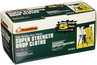 Frost King P300 Super Strength High Density Drop Cloths, 9' x 12' x .3 mil, Clear