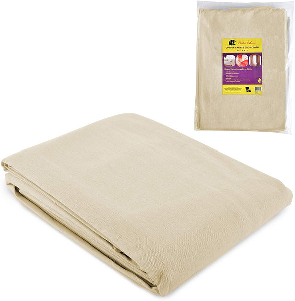 Bates- Drop Cloth, Canvas Drop Cloth 9x12, Canvas Tarp, Canvas Fabric, Drop Cloth Curtains, Drop Cloths for Painting, Painters Drop Cloth, Paint Drop Cloth, Paint Tarp, Painting Supplies, Canvas Sheet