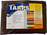 10 Ft. X 10 Ft. Super Heavy Duty 8 Oz. Brown Tarp - 16 Mil Thick